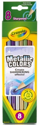 Crayola, Colored Pencils, Metallic Colors, 8 Pieces  -