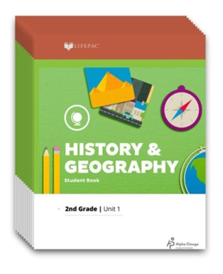 LIFEPAC History & Geography Workbook Set, Grade 2 (2017  Updated Edition)  -