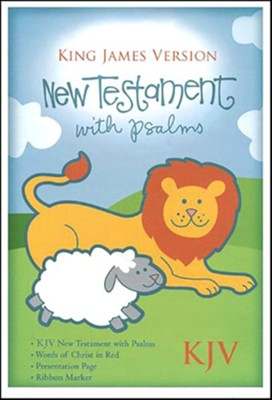 KJV Baby's New Testament and Psalms--bonded leather, Blue   -