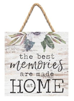 The Best Memories Are Made At Home Jute Hanging Decor  -