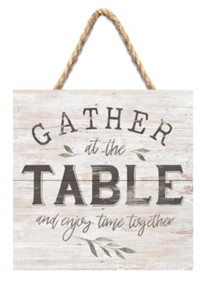 Gather At The Table Jute Hanging Decor  -