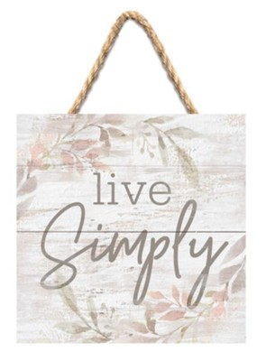 Live Simply Jute Hanging Decor  -