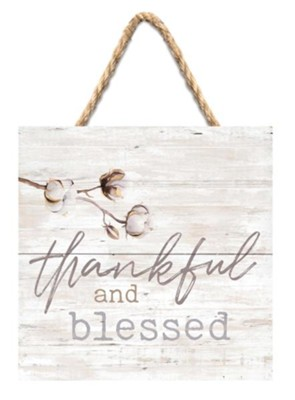 Thankful and Blessed Jute Hanging Decor  -