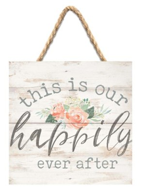 This Is Our Happily Ever After Jute Hanging Decor  -