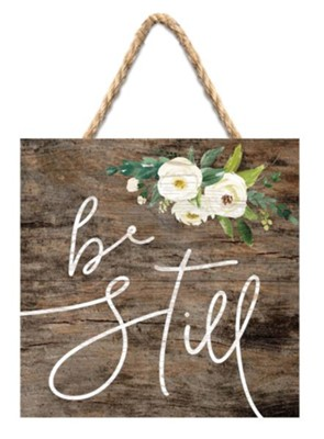 Be Still Jute Hanging Decor  -