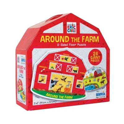 Around the Farm 2-Sided Floor Puzzle, 26 Pieces  -