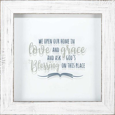We Open Our Home in Love and Grace Framed Art  -
