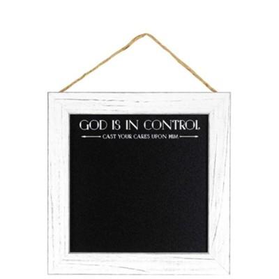 God is in Control Framed Chalkboard - Christianbook.com