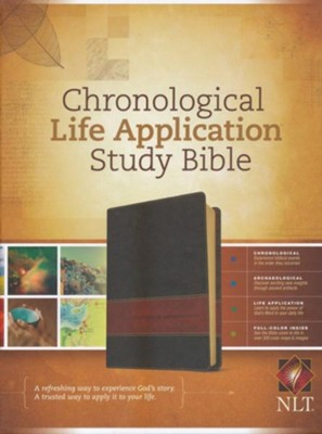 NLT Chronological Life Application Study Bible, Leatherlike Brown/Tan  -