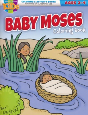 Baby Moses Coloring Book (ages 2-4)  -