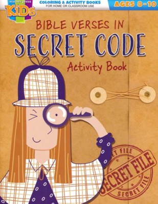 Bible Verses in Secret Code Activity Book (ages 8-10)  -