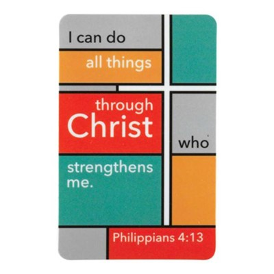 I Can Do All Things Through Christ Pocket Card  -