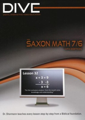 DIVE CD-Rom for Saxon Math 7/6, 4th Edition    -