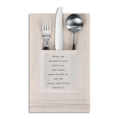 Blessings Utensil Pocket Napkin, Set of 2  -