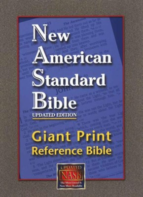 NASB Giant Print Reference Bible, Genuine Leather, black  - Slightly Imperfect  -