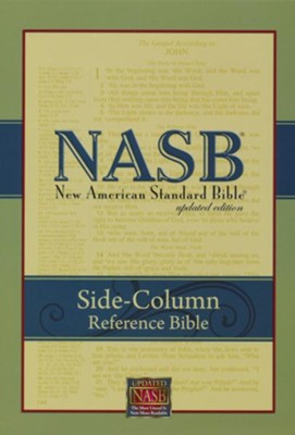 NASB Side-column Reference Wide Margin Bible - Leathertex, Black  -     Edited By: The Lockman Foundation