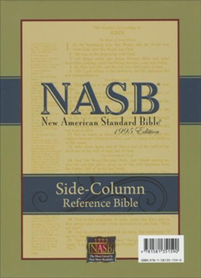 NASB Side-column Reference Wide Margin Bible - Genuine Leather, Black  -