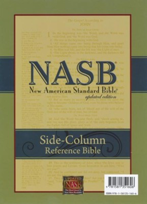 NASB Side-column Reference Wide Margin Bible - Calfskin Leather, Black - Slightly Imperfect  -     By: The Lockman Foundation