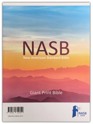 NASB 2020 Giant-Print Text Bible--soft leather-look, brown (indexed)  -