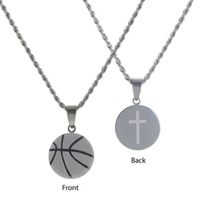 Basketball Necklace for Her, Stainless Steel  -
