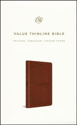 ESV Value Thinline Bible (TruTone, Cordovan, Vintage Frame Design), Imitation Leather, Brown  -