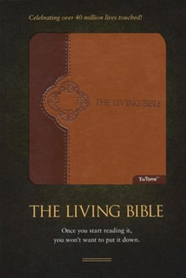 The Living Bible, TuTone Brown/Tan Imitation Leather   -