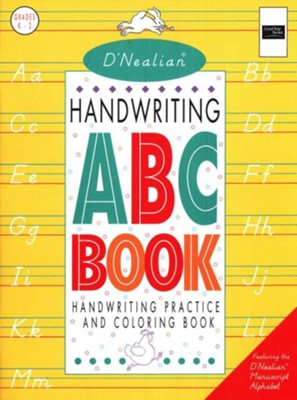 D'Nealian Handwriting Manuscript ABC Book   -     By: Donald Thurber