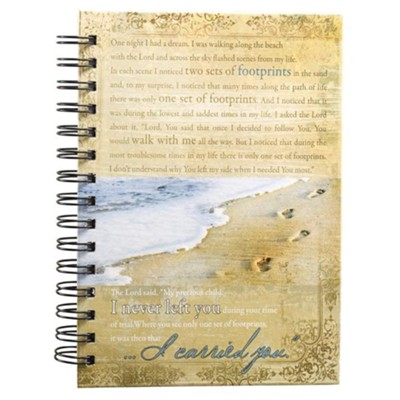 Large Spiral-bound Journal - Footprints  -