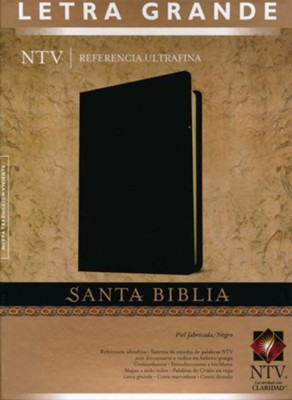 Referencia ultrafina NTV letra grande piel fabricada negro  -     Translated By: Tyndale