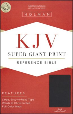 KJV Super Giant Print Reference Bible, Black LeatherTouch  -