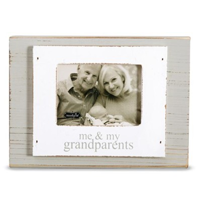 Me And My Grandparents, Wooden Block, Photo Frame  -
