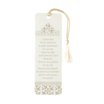 Godparent Bookmark with Tassel  -