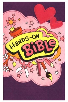 NLT Hands-On Bible Updated Edition, Leatherlike Sugar Plum  -