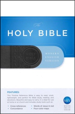 MEV Thinline Reference Bible, Imitation Leather Black  -