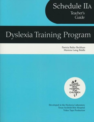 Dyslexia Training Program Schedule 2A, Teacher's Guide   -