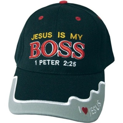 Jesus Is My Boss Cap Black  -