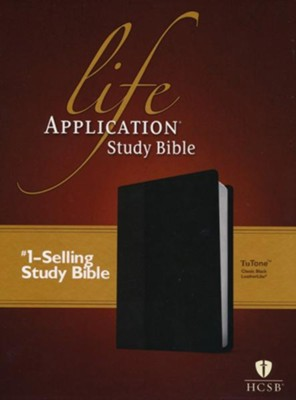 HCSB Life Application Study Bible TuTone leatherlike black  -