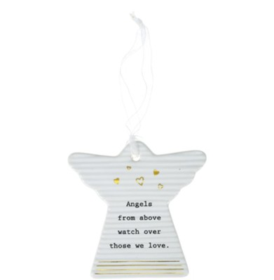 Angels From Above Watch Over Those We Love Hanging Angel Ornament  -