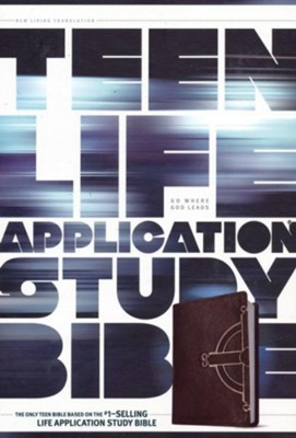 NLT Teen Life Application Study Bible: Black Celtic Cross Leatherlike  -