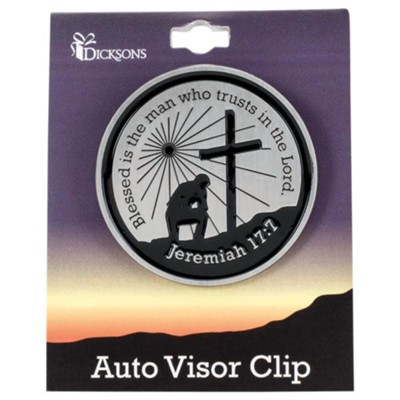 Blessed is the Man Who Trusts in the Lord Visor Clip  -