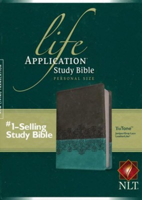 NLT Life Application Study Bible 2nd Edition, Personal Size  TuTone Imitation Leather, juniper/gray lace  -