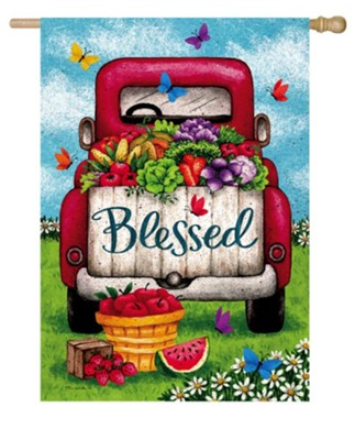 Blessed, Truck, Flag, Large  -     By: Tina Wenke
