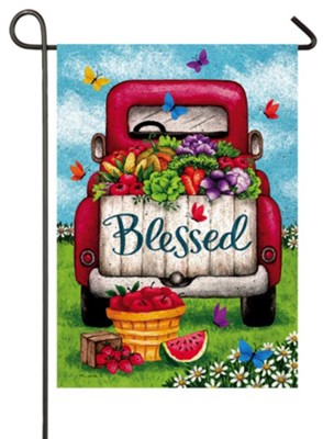 Blessed, Truck, Flag, Small  -     By: Tina Wenke