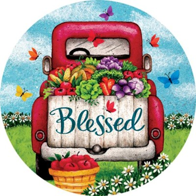 Blessed, Truck, Magnet  -     By: Tina Wenke