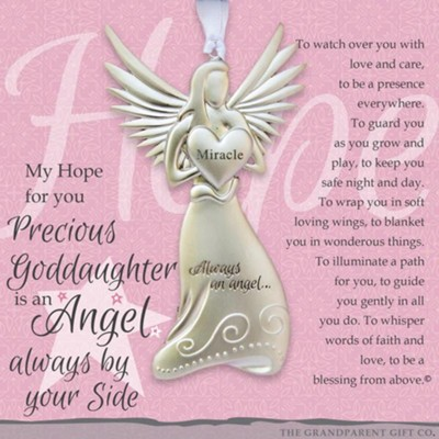 Angel Precious Goddaughter Ornament  -
