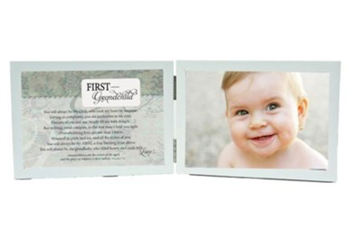 First Grandchild Photo Frame With Scripture  -