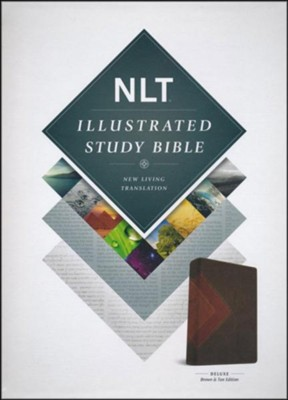 NLT Illustrated Study Bible--soft leather-look, brown/tan  -
