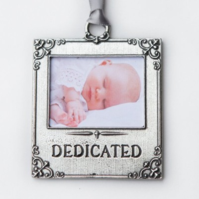 Baby's Dedication Photo Ornament   -