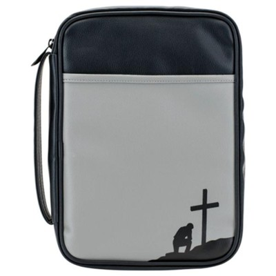 Man of God Bible Cover, Black and Grey, Large-Print  -