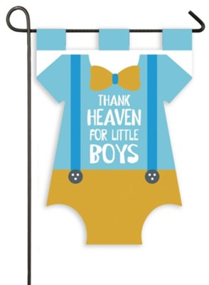 Thank Heaven for Little Boys Flag, Small  -